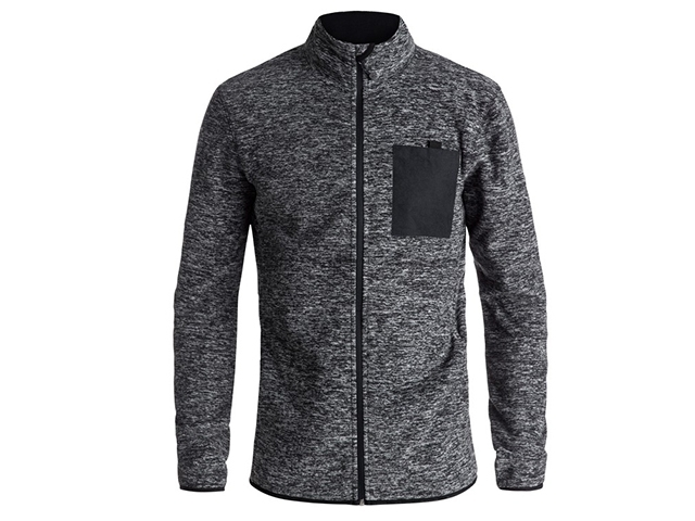 Quiksilver Butter Technical Zip Up Fleece Black Heather (detaliu #0)
