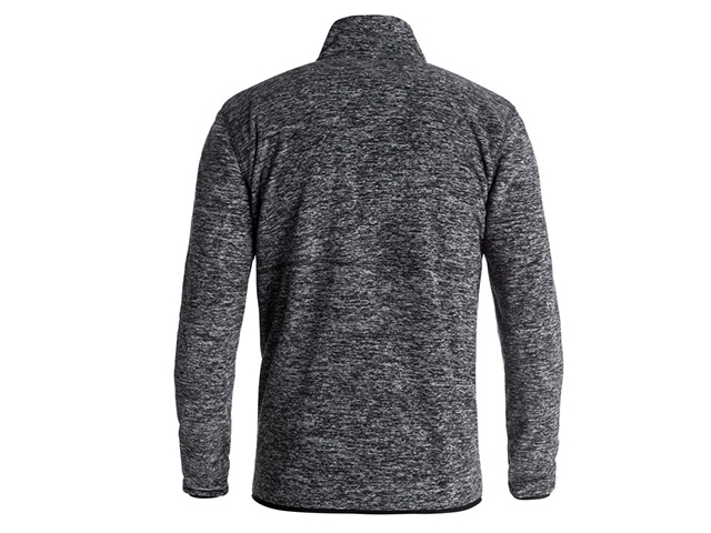 Quiksilver Butter Technical Zip Up Fleece Black Heather (detaliu #1)