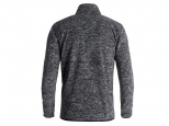 Quiksilver Butter Technical Zip Up Fleece Black Heather (thumb #1)