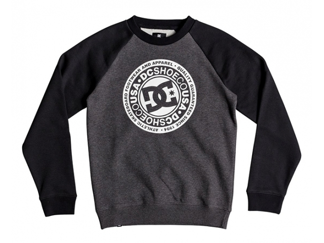 DC Circle Star Kids Black/Charcoal Heather (detaliu #0)