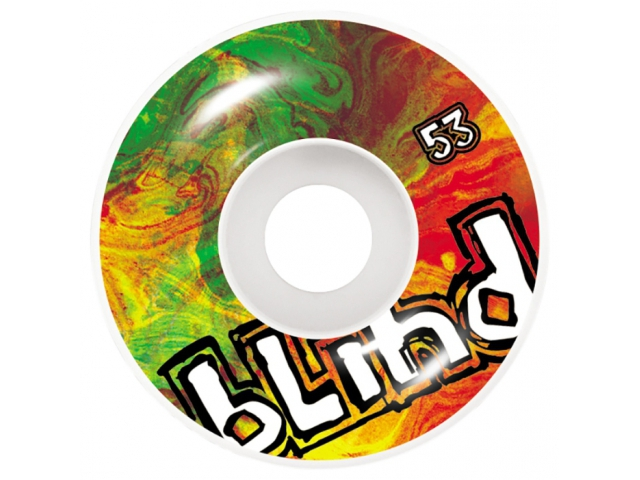 Roti skate Blind Trippy OG White/Rasta 53mm de la Blind