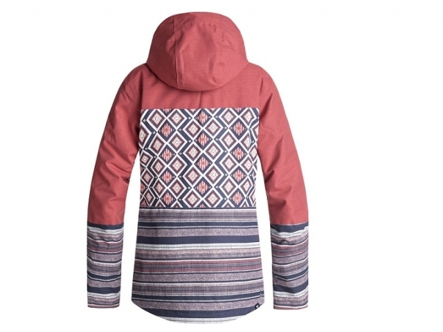 Roxy Jetty Block Snow Jacket Dusty Cedar Edit Song Geo