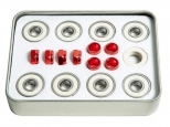 Andale Swiss Pro Rated Bearings Kit White/Red (thumb #1)