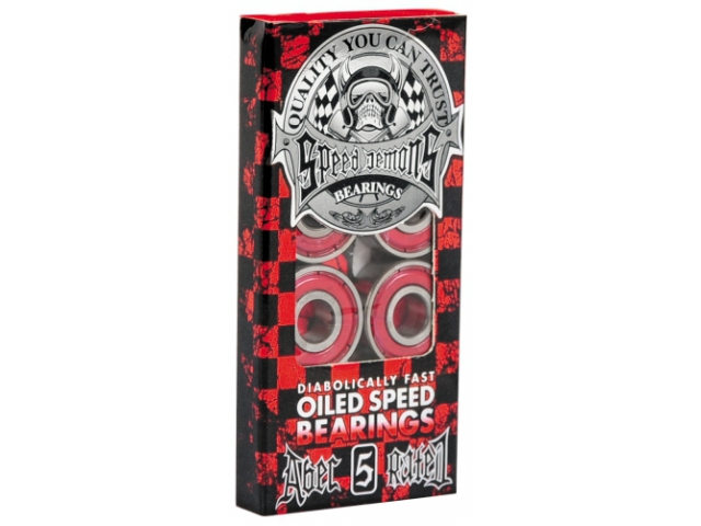 Rulmenti Skate Speed Demons Oiled Speed Red Abec 5