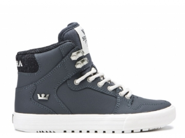 Supra Vaider CW Kids Dark Grey/White (thumb #0)
