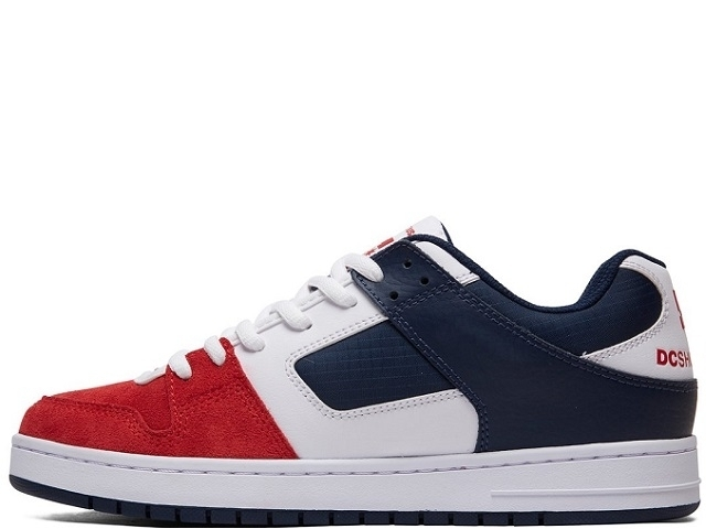 DC Manteca White/Navy/Red