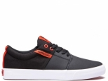 Supra Stacks II Vulc Black/Risk Red-White