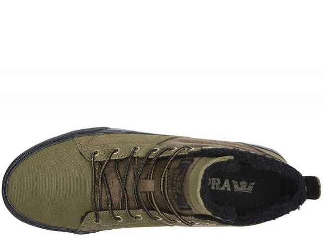 Supra Stacks Mid Military Olive/Black/black