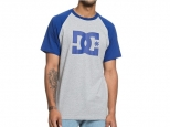 DC Star Raglan Sodalite Blue/Grey Heather